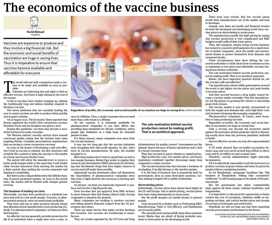 The Economics Of The Vaccine Business